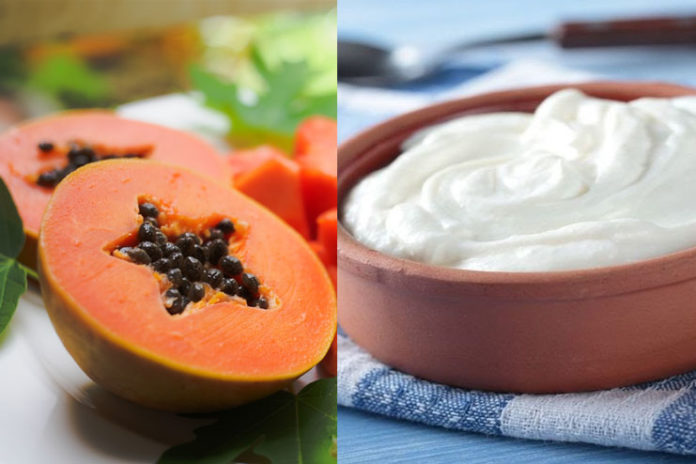 Papaya and Greek Yogurt Mask