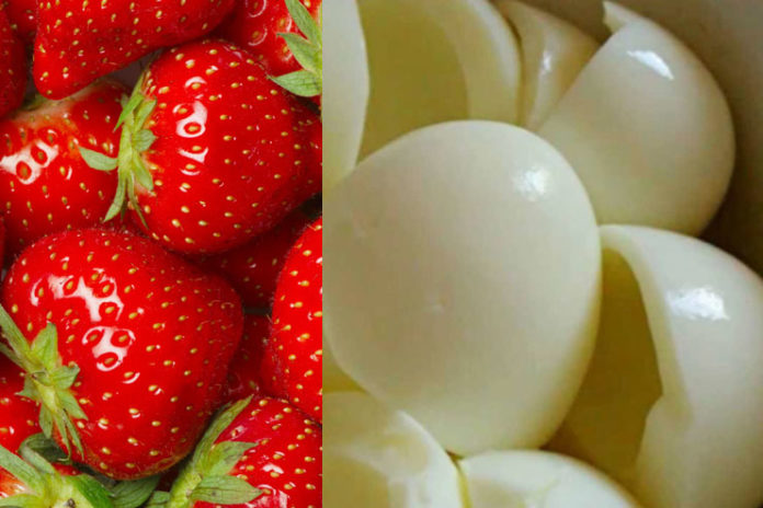 Strawberry and Egg White Mask