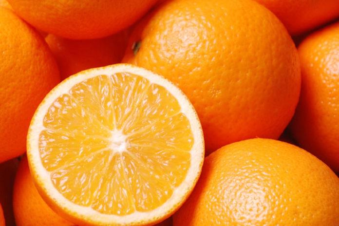 Orange face masks