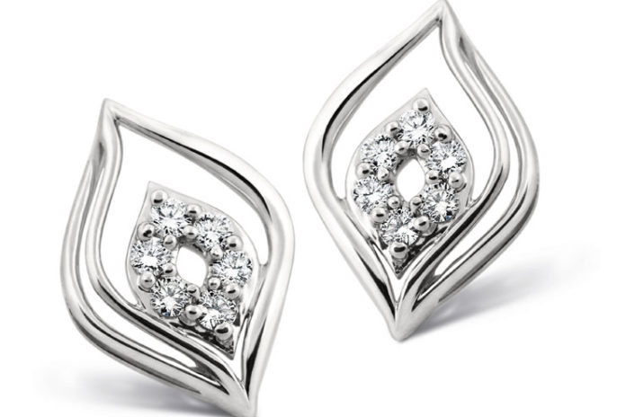 Platinum earrings