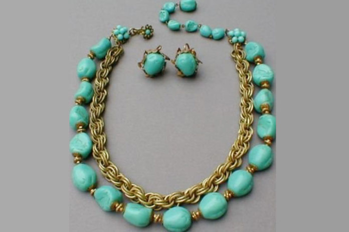 Haskell turquoise costume jewellery pieces
