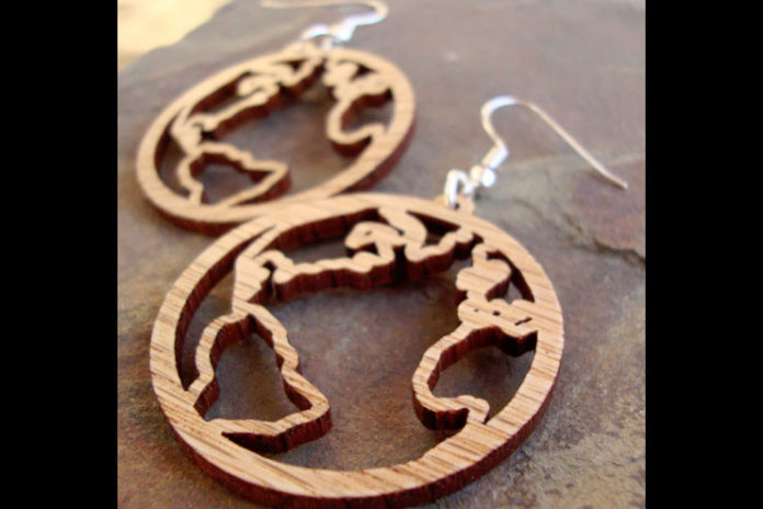 World design earrings