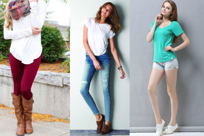 Leggings, jeans, or shorts