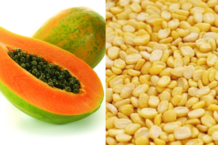 Use papaya scrub