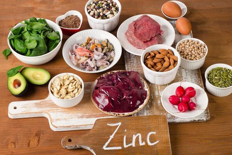 Zinc and iron