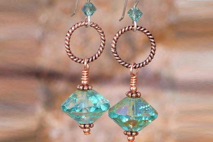 Glass handmade earrings