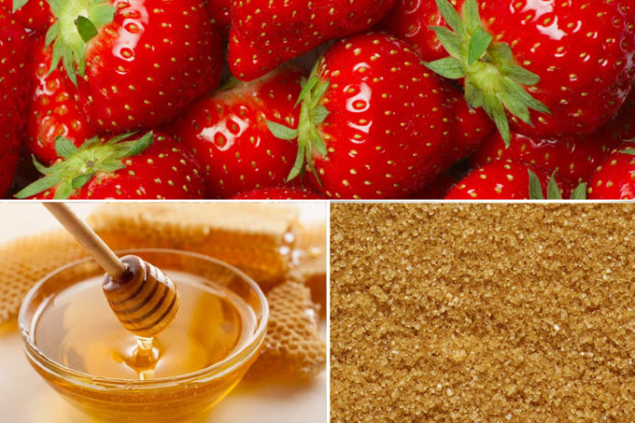 Strawberry, honey and brown sugar pack