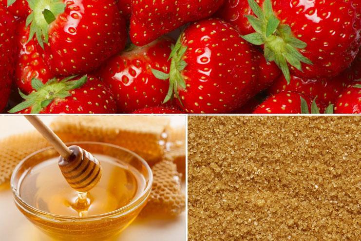 Strawberry, honey and brown sugar pack