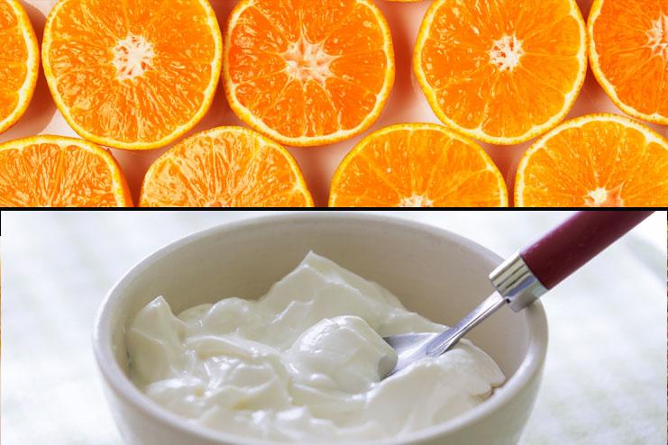 Orange peel and yogurt pack