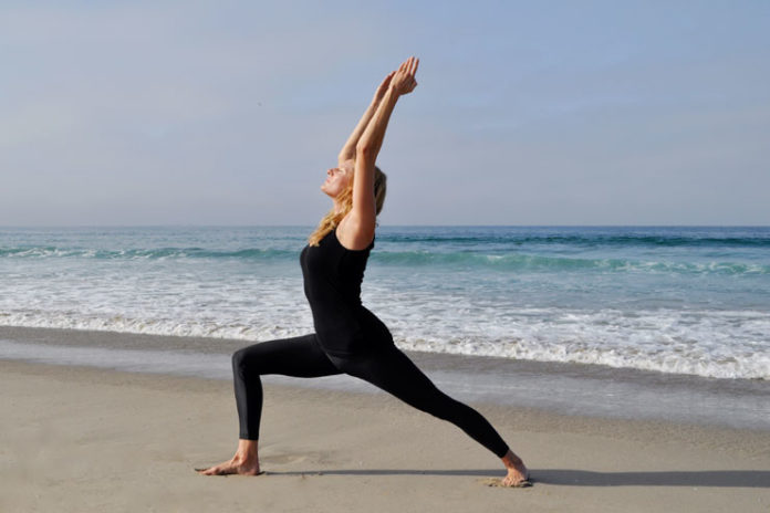 Veerabhadrasana or warrior pose