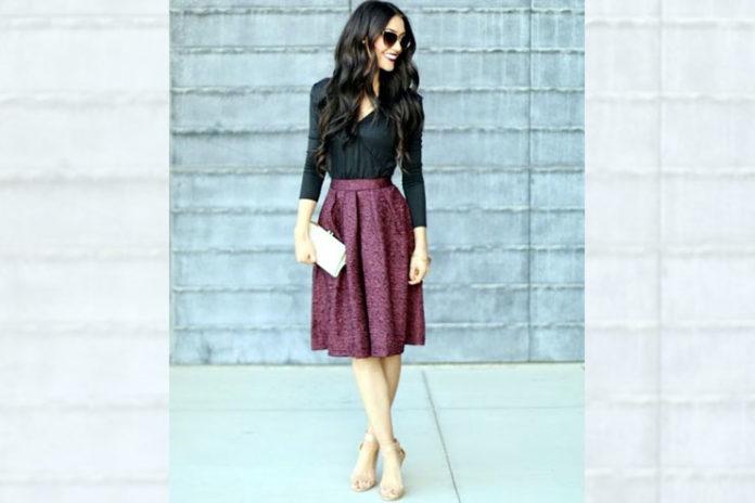 Spring Work midi skirt