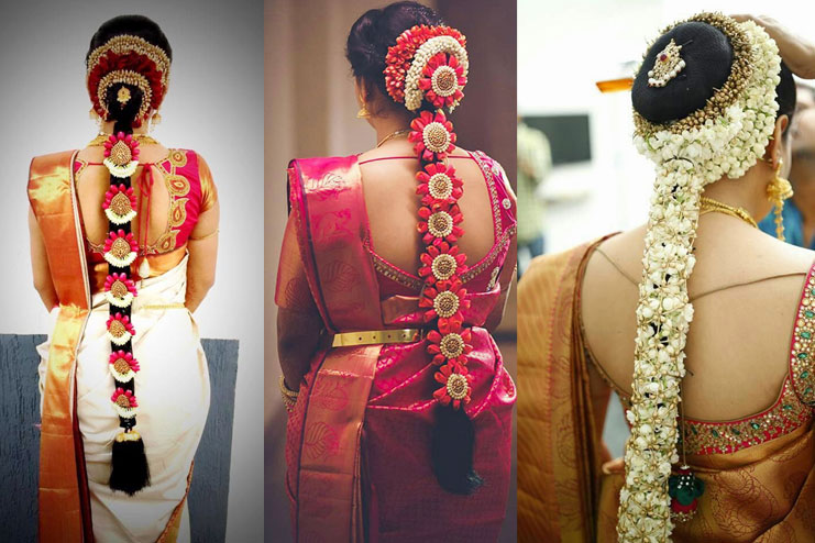 Popular South Indian Bridal Floral Hairstyles