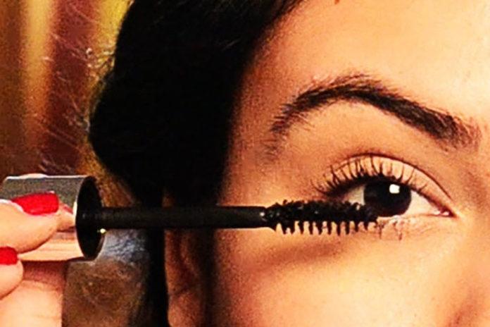 Finish off with mascara or false lashes
