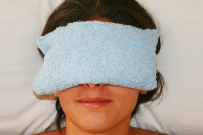 Hot and cold compress for eyes
