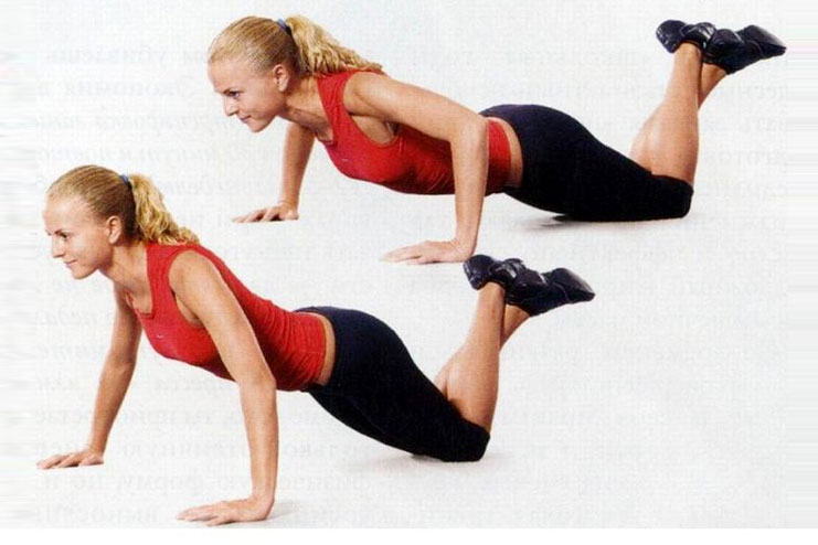 Modified push-ups for chest