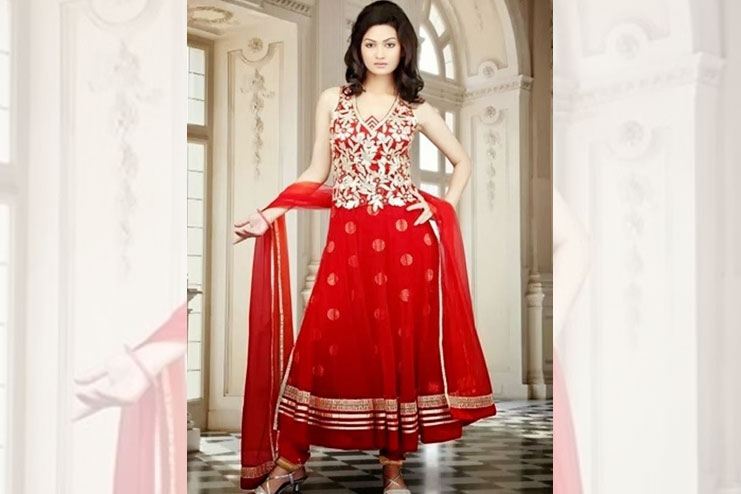 Embroidered bridal frocks