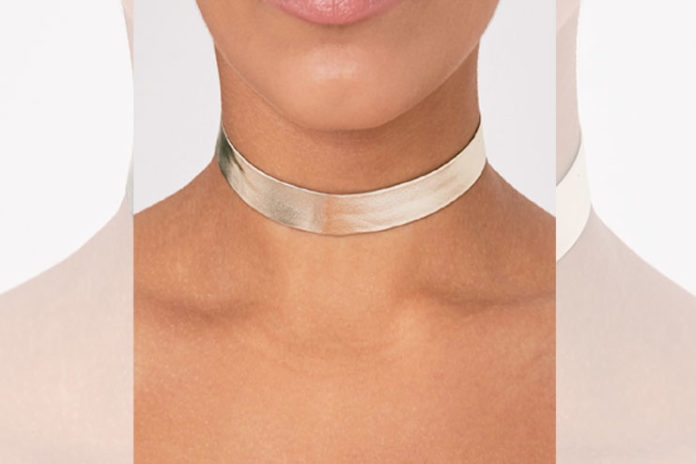 Gold Metallic Choker