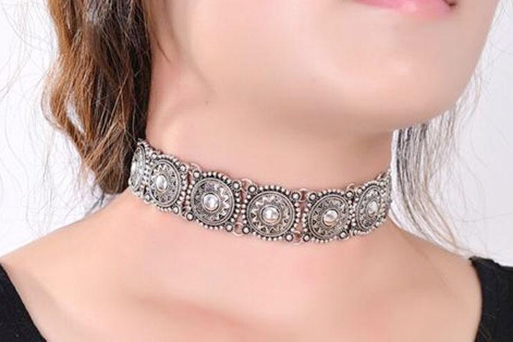 Metal Choker Necklace
