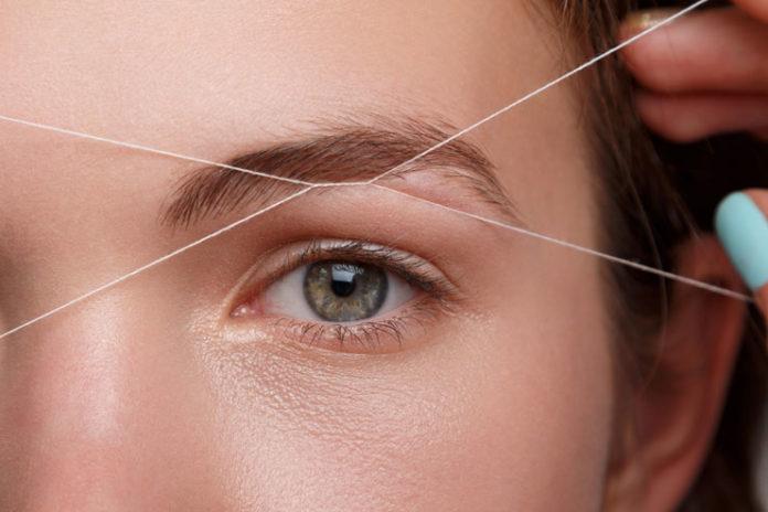 Trim the eyebrows