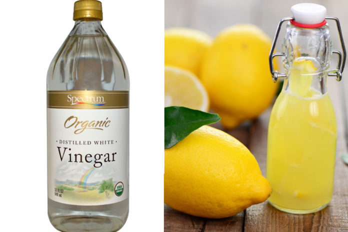 Vinegar and Lemon Juice
