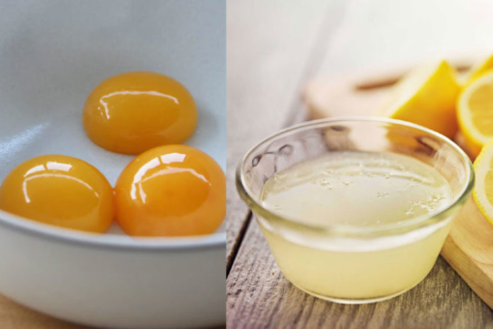 Egg Yolk and Lemon Juice