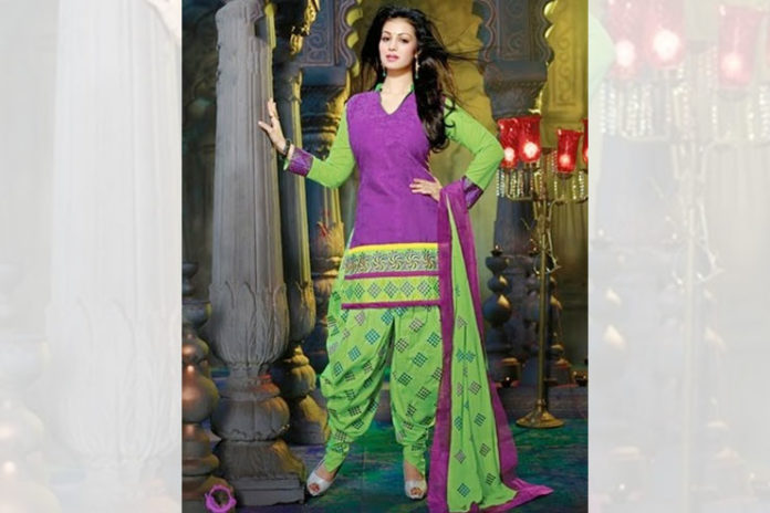Dhoti style Patiala Suit