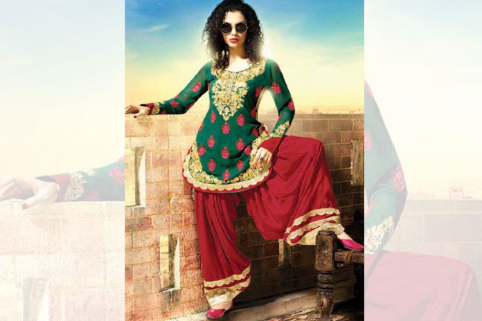 Faux Georgette Trendy Patiala Salwar