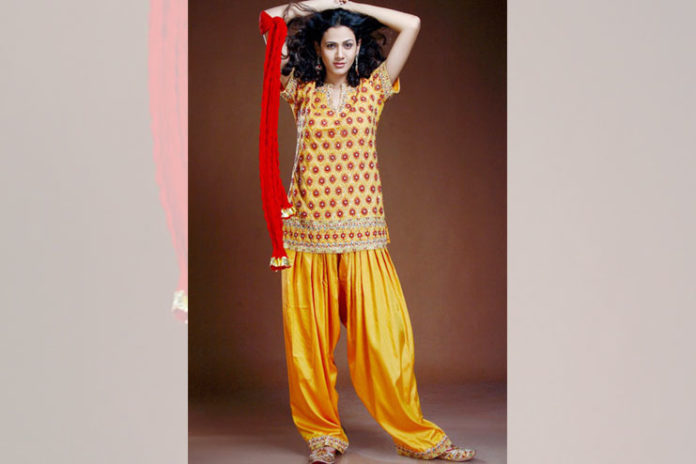 Trendy patiala suit