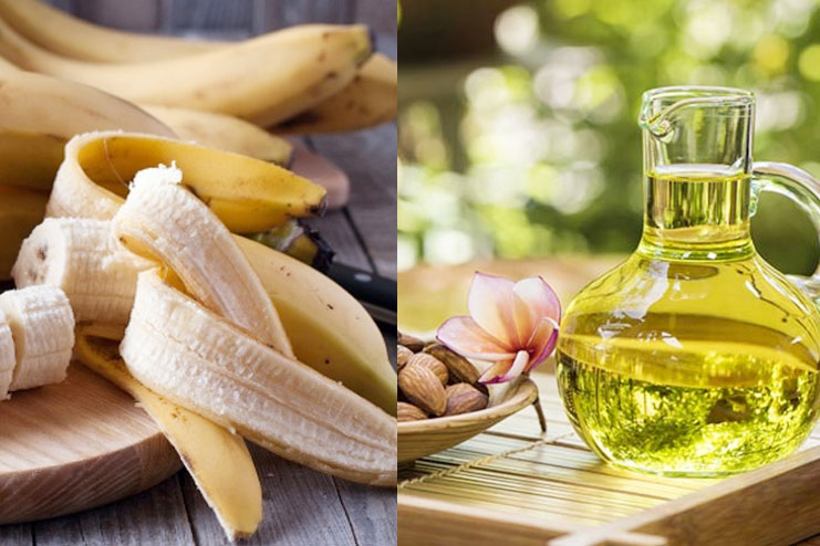Banana and Almond Oil Pack