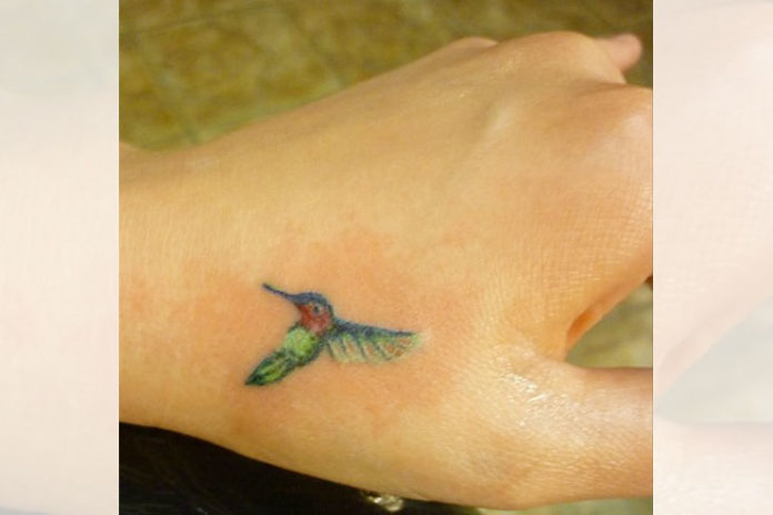 Tiny hummingbird tattoo