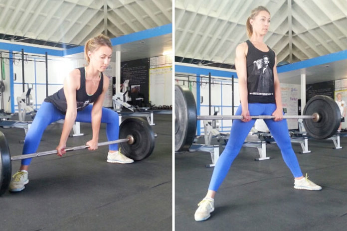 Wide-Stance Deadlifts