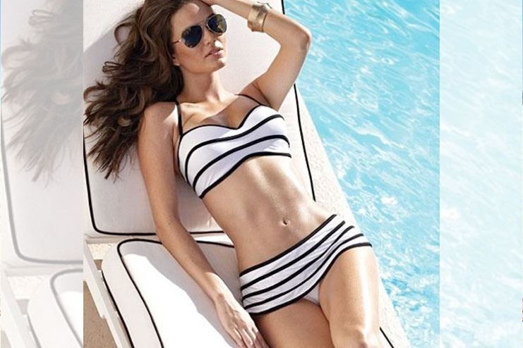 Striped Black And White Beach Wear