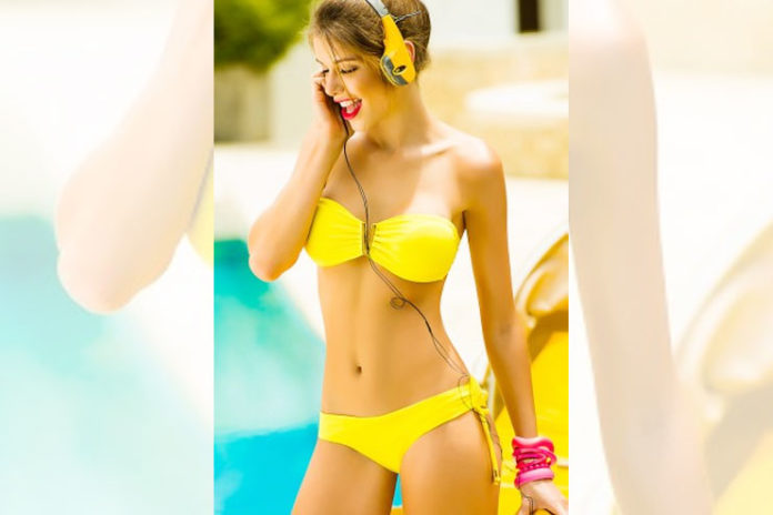 Yellow Bandeau Bikini