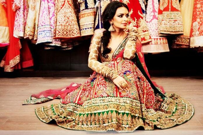 Colorful Bridal Lehenga-Choli Combination