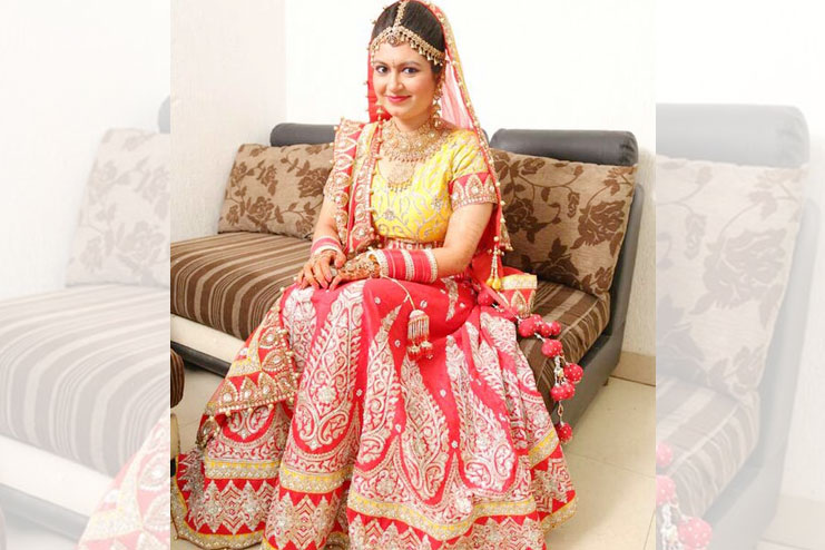 Red And Yellow Lehenga-Choli Combination