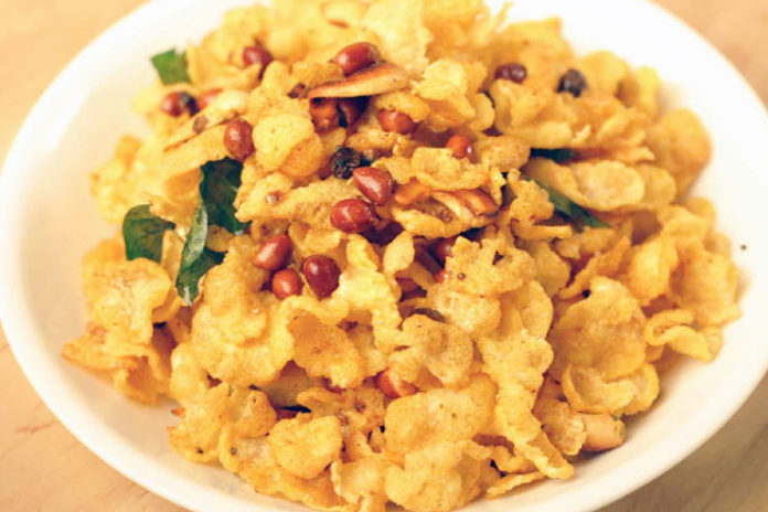 Corn Flakes Chaat Recipe