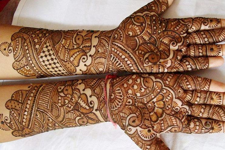 Classic Rajasthani Bridal Mehendi
