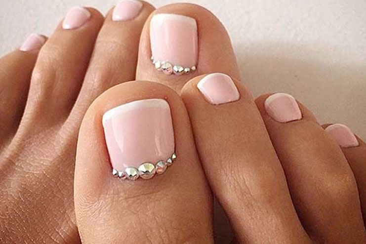 At-Home French Pedicure