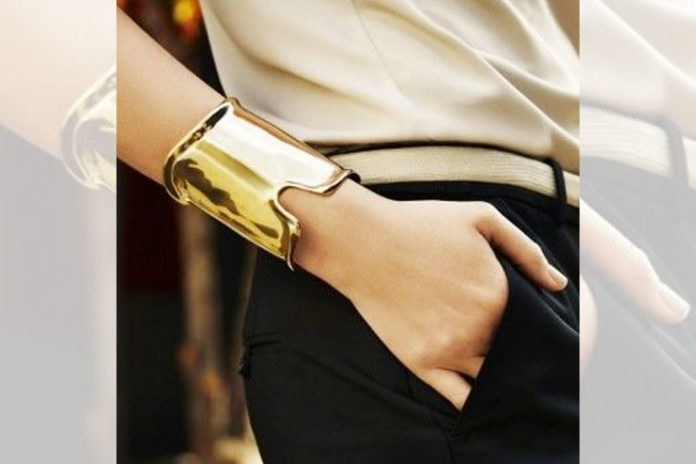 Faux Gold Arm Cuff