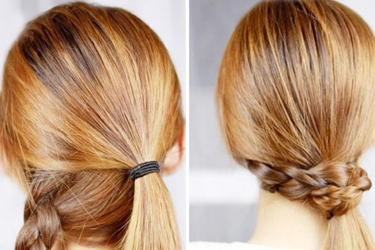 Braid-wrapped-ponytail