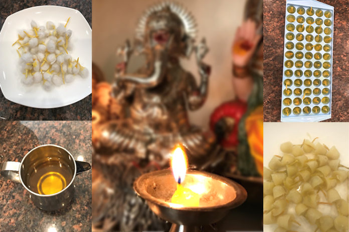 Make ghee diyas at home