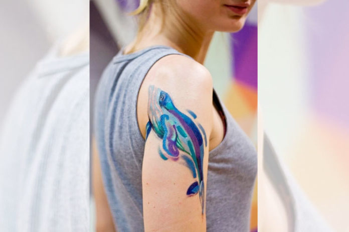 Dolphin Watercolor Tattoos