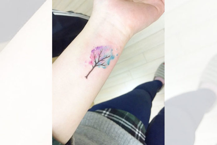 Wrist Watercolor Tattoo