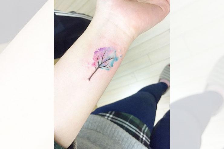 Wrist Watercolor Tattoo