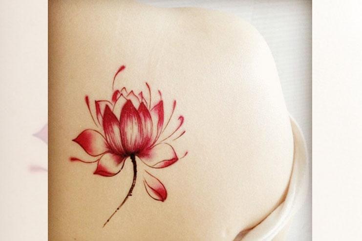 Mandala Shoulder Watercolor Tattoo