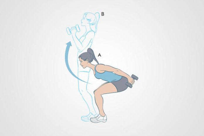 Dumbbell Skier Swing