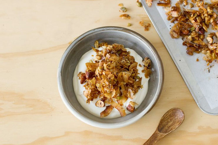 coconut and vanilla muesli