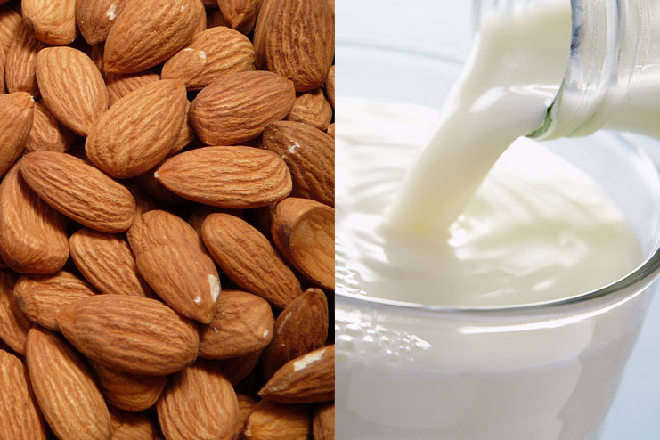 Almonds, And Milk Face Pack