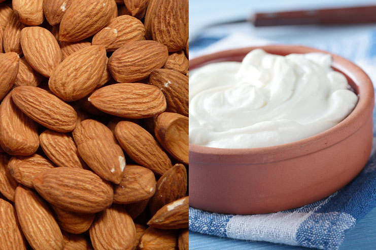 Almonds, And Yogurt Face Pack