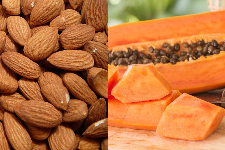 Almond, And Papaya Face Pack